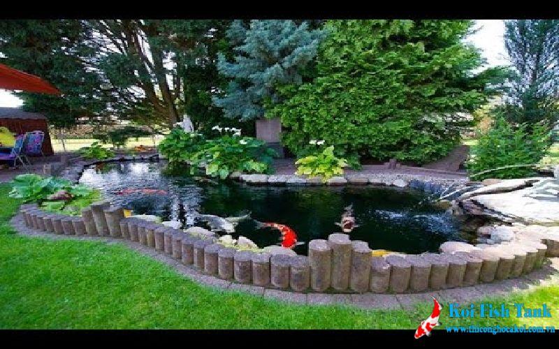 Sân vườn hồ cá koi tại Đà Lạt