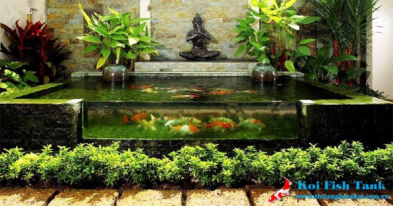 Hồ cá Koi mini đẹp giá rẻ