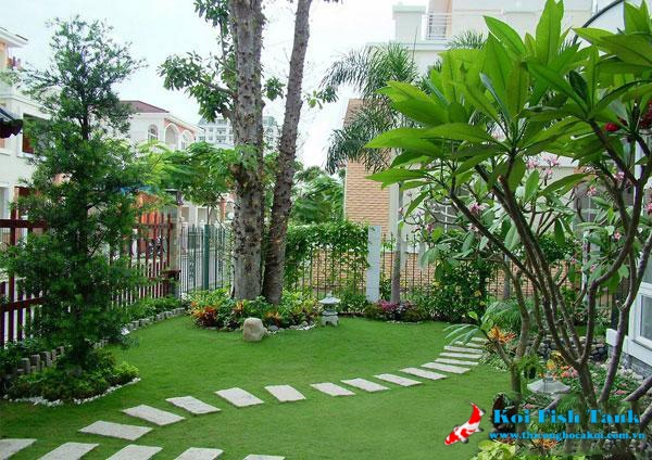 Một góc sân vườn biệt thự