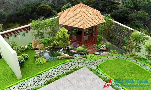 Thi công sân vườn biệt thự đẹp