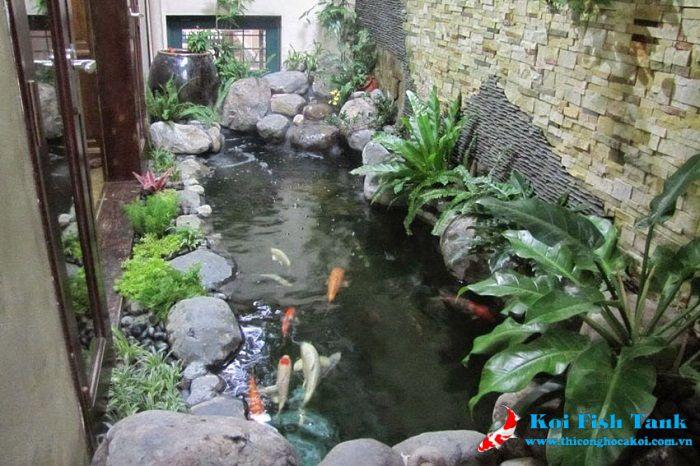 Thiết kế hồ cá Koi biệt thự