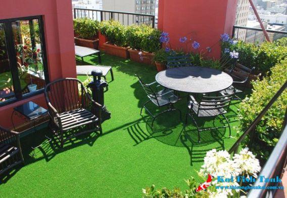 Thiết kế sân vườn cỏ nhân tạo