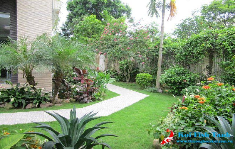 Thiết kế thi công sân vườn đẹp quận 1