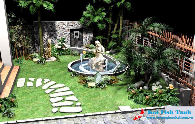 Thiết kế thi công sân vườn đẹp quận 2