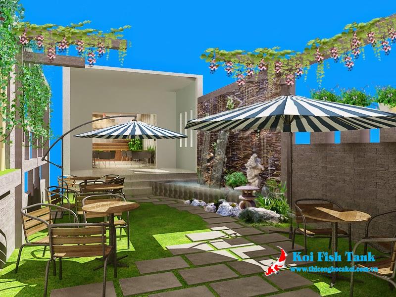 Thiết kế sân vườn quán cafe chuyên nghiệp