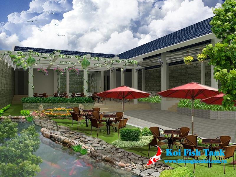 Thiết kế sân vườn quán cafe đẹp