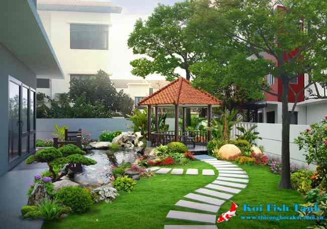 Thiết kế khuôn viên sân vườn chuyên nghiệp