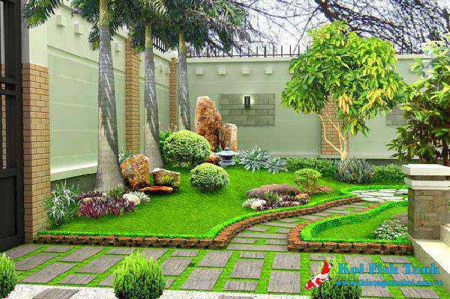 Không khí trong lành hơn khi thiết kế sân vườn đẹp cho khu nhà