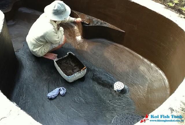 Quy trình chống thấm cho cổ ống hồ cá koi