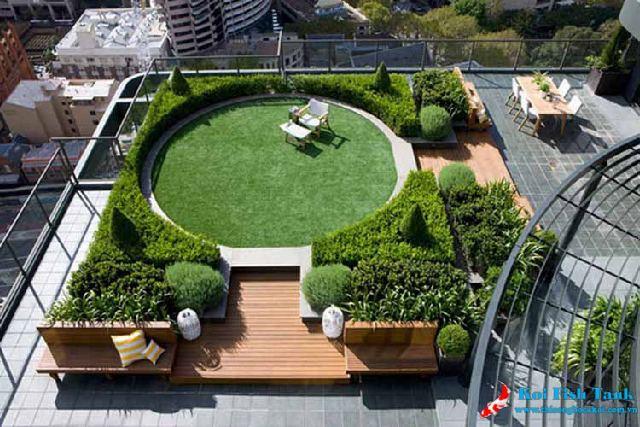 Thiết kế cảnh quan sân thượng cho nhà phố