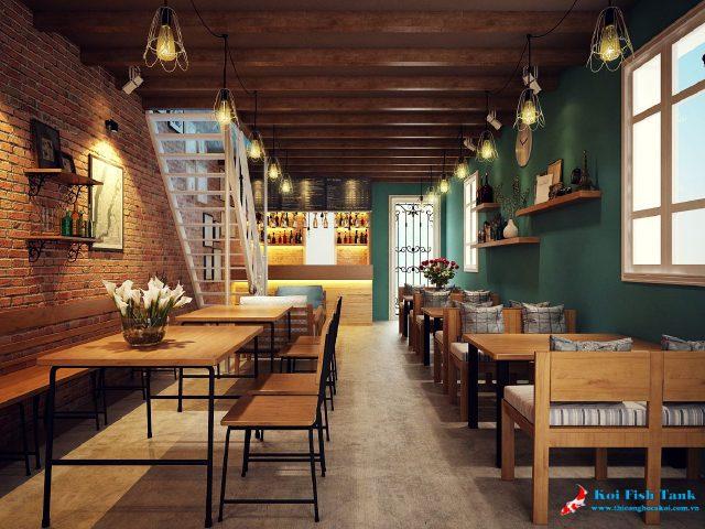 Thiết kế quán cafe cổ điển đẹp theo phong cách mới lạ